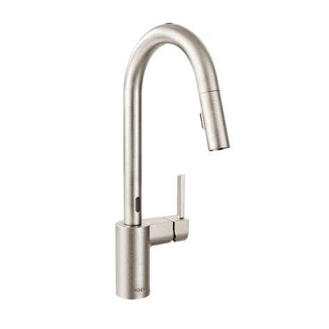 touchless kitchen faucets moen align single handle pull sprayer touchless