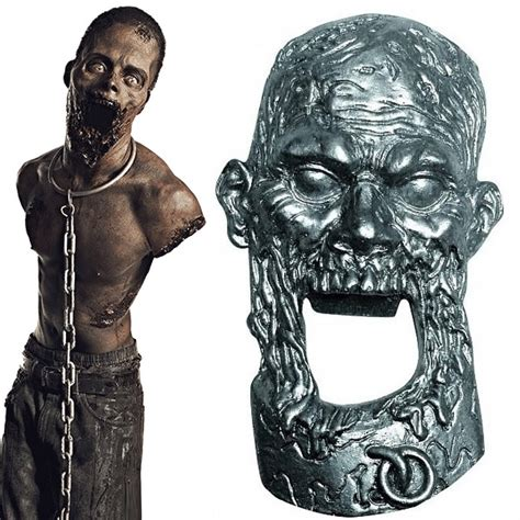 walking dead bottle pet zombie opener michonne zombies teeth technabob ale drinks beer open