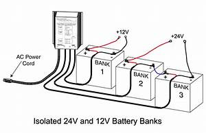 3 Bank Charger For A 12v Battery And 24v Trolling Motor
