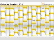 Feiertage 2019 Saarland + Kalender
