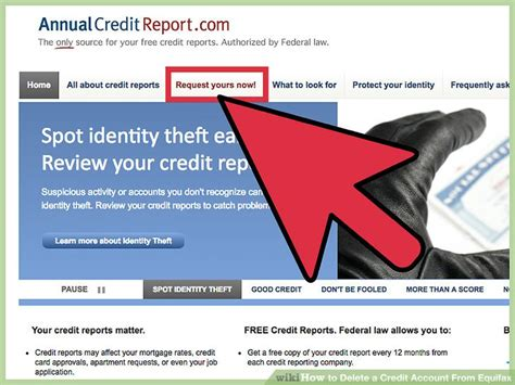 delete  credit account  equifax  steps