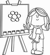Clip Easel Painting Drawing Clipart Mandala sketch template