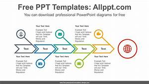 Fishbone Arrow Powerpoint Diagram Template