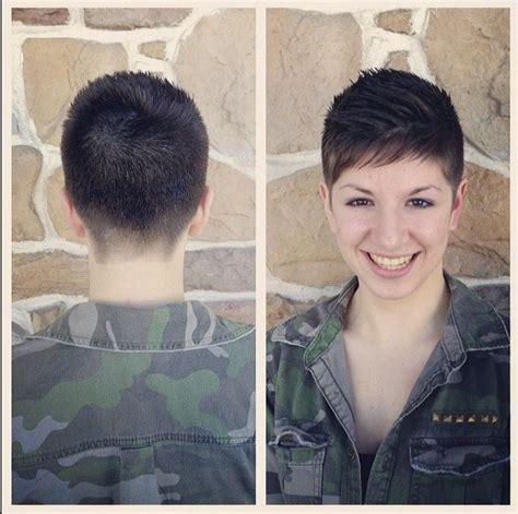 military inspired shearing military haircut womens