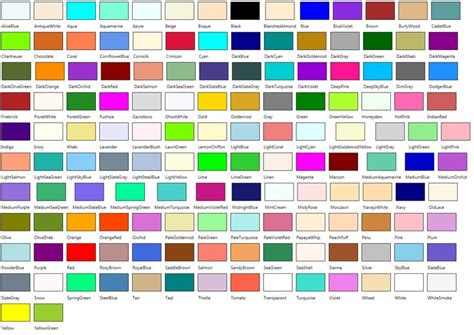 all about color crayola color chart with names 547 specifying colors