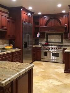 cherry wood kitchens 2291