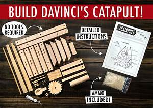 Da Vinci U0026 39 S Catapult  Build A Wooden Desktop Siege Engine