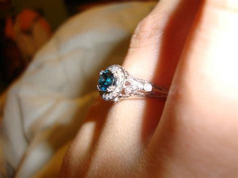 blue engagement rings weddingbee
