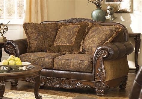 Fresco Durablend® Antique Sofa Set  Cincinnati Overstock