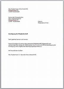 Mietvertrag Vorlage 2015 : kostenlose vorlage f r die k ndigung im fitnessstudio ~ Eleganceandgraceweddings.com Haus und Dekorationen