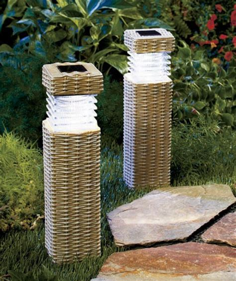 new wireless solar outdoor path lighting garden pillars