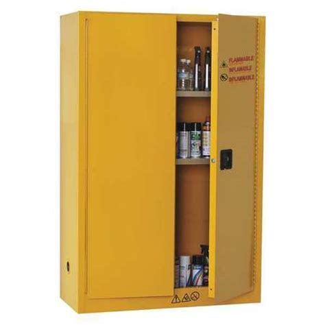 condor flammable safety cabinet 45 gal yellow 42x501