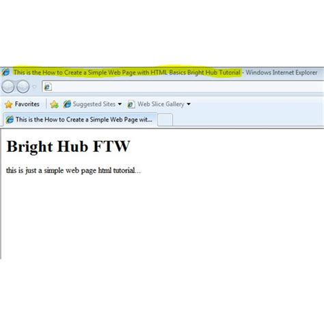 how to create a simple web page with html basics