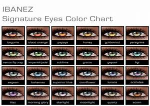 NEW IBANEZ Signature Eyes! | Eye color chart and Eye