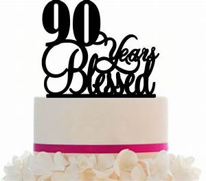 90th Loved Birthdayanniversary Cake Topper Personalized