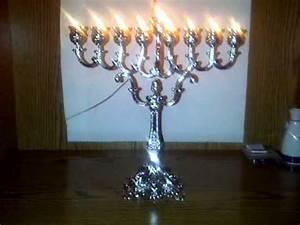 Happy Chanukah - My Oil Burning Menorah