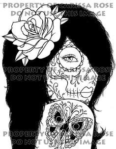 Day of the Dead Tattoo Flash - Digital Download Print Your