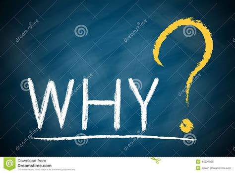Why Images Why With A Big Question Stock Photo Image 44927939