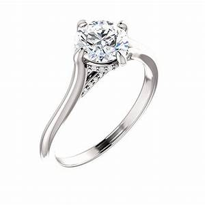 stuller 14k white gold round engagement ring roth jewelers With stuller wedding rings