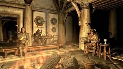 Skyrim Scrolls Elder Cozy Fantasy Wallpapers Games