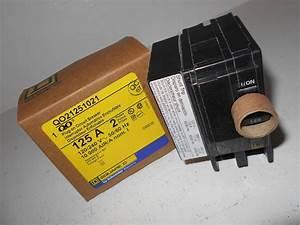 New Nib Square D Qo21251021 2 Pole 125 Amp 240v Qo Breaker