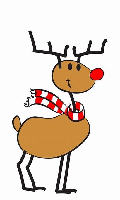 Reindeer Christmas Animated Funny Clipart Cartoon Clip