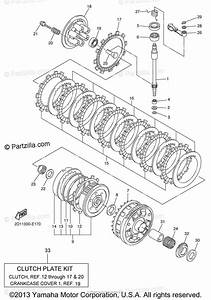 Yamaha Motorcycle 2009 Oem Parts Diagram For Clutch