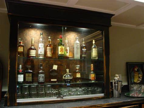 Diy Locked Liquor Cabinet by Custom Built Liquor Cabinet In Back Bar Area With