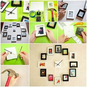 How to diy creative photo frame wall clock