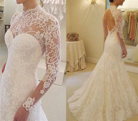 custom  ivory vintige open  gorgeous lace wedding