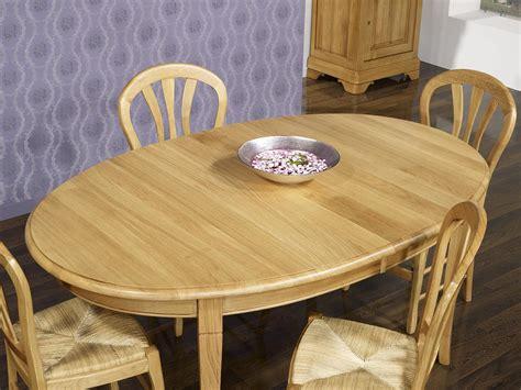 table ronde bois avec rallonge table ovale 170x110 en chêne massif de style louis