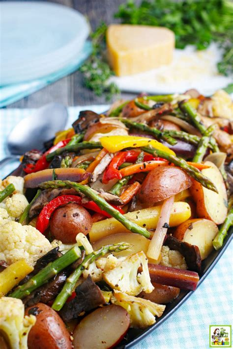 oven roasted vegetables recipe  mama cooks   diet