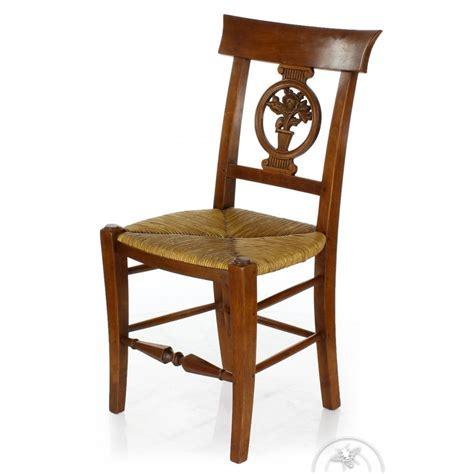 chaise en bois et paille chaise ancienne bois et paille fleurs ebay