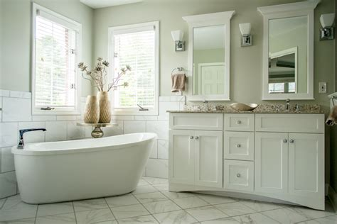 serene bathroom  freestanding tub robins nest interiors