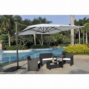 La Maison Du Parasol : parasol d port rectangulaire 4 x 3 m rotatif 360 ~ Dailycaller-alerts.com Idées de Décoration