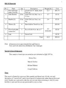 Cold Call Sheet Template Project Drawings Parts List And Bill Of Materials