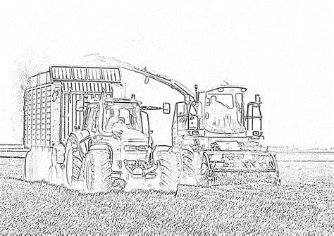 Kleurplaat Machines Landbouw by Kleurplaat Tractor Kleurplaten Tractor