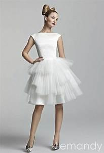 cute white satin and tulle short tutu wedding dress 175 With cute short white wedding dresses