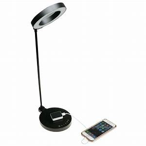 Led Touch Dimmer : ntw airenergy 20 in led touch dimmer black desk lamp with qi certified wireless charging base ~ Frokenaadalensverden.com Haus und Dekorationen