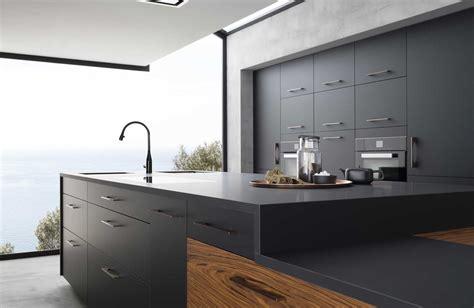 cuisine b600h placage palissandre v200 verni noir mat