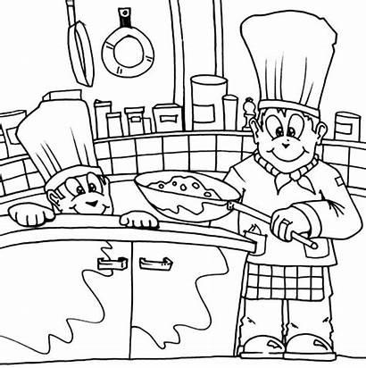 Coloring Kitchen Chef Chimney Colornimbus Colouring Ninja