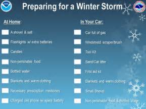 nws winter check list