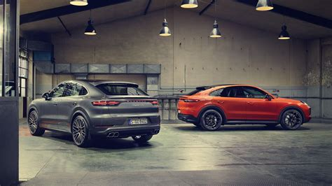 porsche cayenne coupe trades capacity  comeliness
