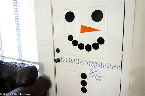 remodelaholic  printable snowman door decorating kit