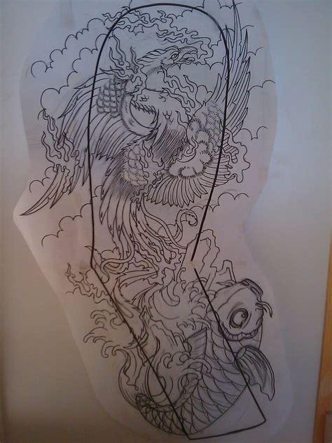 japanese phoenix full sleeve  dude skinz tattooing