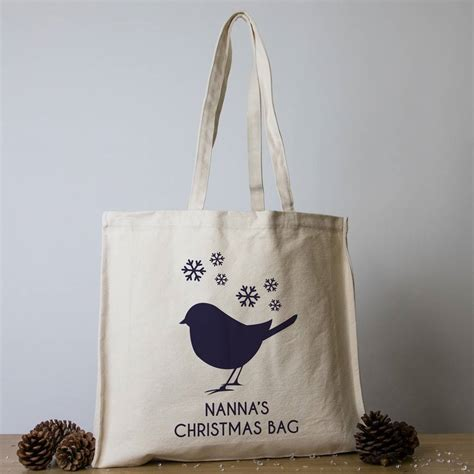 Personalised Christmas Tote Bags By Able Labels ...