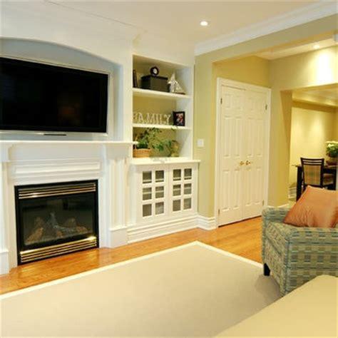 tv recessed  fireplace tv  fireplace design