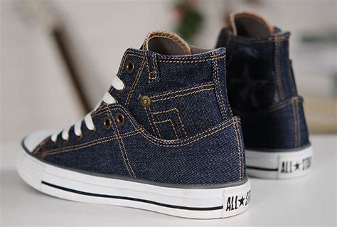 2015 Retro Converse Blue Jeans Style Denim High Tops Chuck