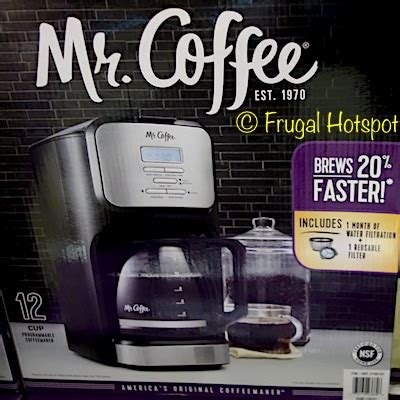 Also, this electric coffeemaker is easily operated, enabling you to simply prepare great coffee with consistency. Costco Sale: Mr. Coffee 12-Cup Coffee Maker .99 | Frugal Hotspot