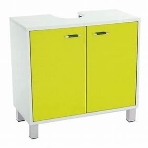 Meuble Dessous De Lavabo : meuble dessous lavabo dinamo vert dessous lavabo eminza ~ Melissatoandfro.com Idées de Décoration